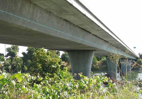 Highway overpass with ILI line